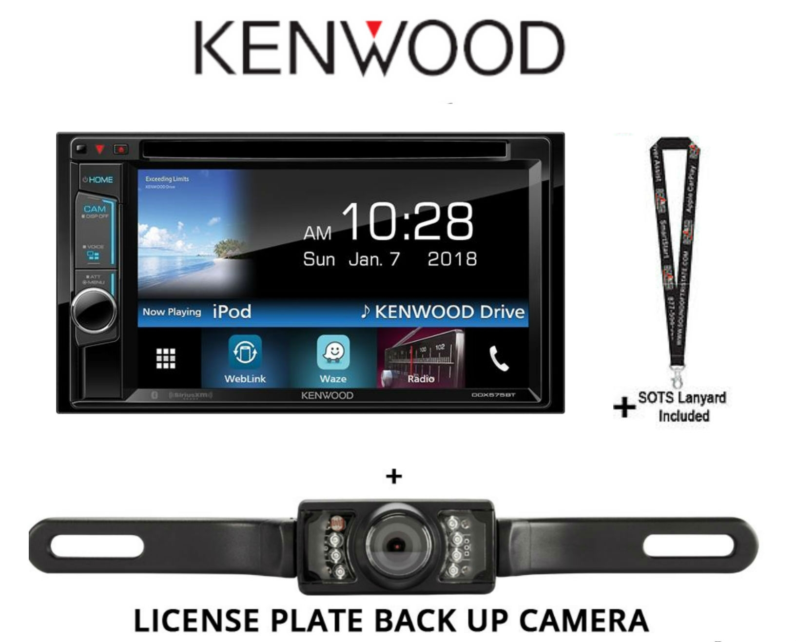 Kenwood Wiring Harness Back Ddx575bt 62 Dvd Receiver With Bluetooth And A License Plate Up Camera Sots Lanyard