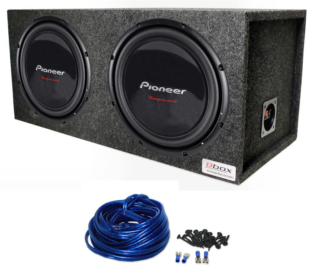 Pioneer Ts W309s4 12 Subwoofers With Atrend E12d Dual Sealed 800 Watt Amplifier Wiring Kit Enclosure And 14ga Wires